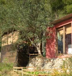 Houten Chalet vakantieverhuur, vakantiehuis, in Casa del Paso, Bolulla, Algar Watervallen,Kasteel van Guadalest, Altea, Benidorm, Costa Blanca, Spanje