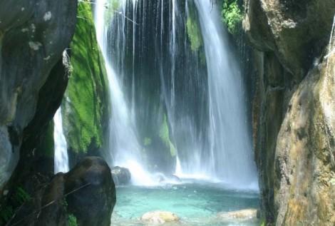 Algar watervallen,zwemmen, Houten Chalet vakantieverhuur, vakantiehuis, in Casa del Paso, Bolulla, Algar Watervallen,Kasteel van Guadalest, Altea, Benidorm, Costa Blanca, Spanje